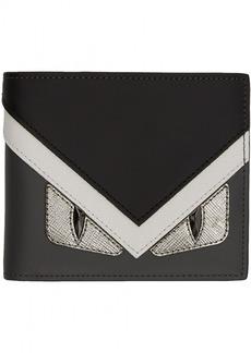 Fendi Grey & White 'Bag Bugs' Wallet