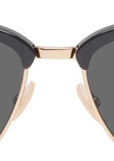 Fendi Grey Horn Rimmed Sunglasses