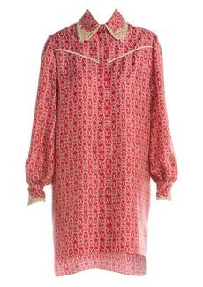 Fendi Grill Royale Twill Shirtdress