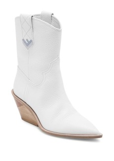 Fendi Heeled Leather Cowboy Boots