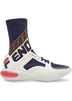 Fendi hi-top logo sneakers
