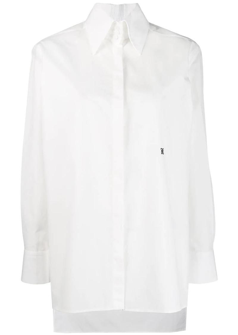Fendi high-collar cotton shirt
