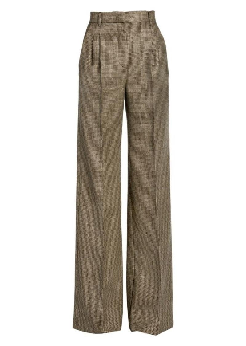 Fendi High-Rise Pixel Wool Wide-Leg Trousers