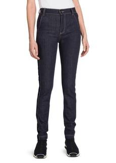 Fendi High-Waist Velvet Logo Jeans