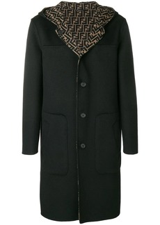 Fendi hooded midi coat