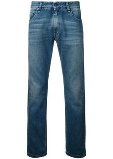 Fendi illustrate slim-fit jeans