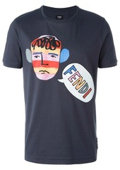 Fendi illustration print T-shirt