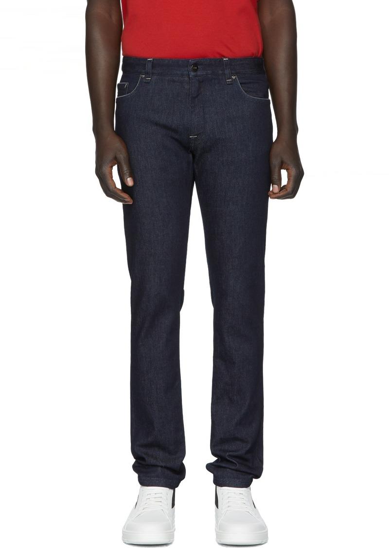 Fendi Indigo Stretch Slim Fit Jeans