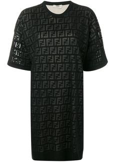 Fendi inlaid FF logo T-shirt dress