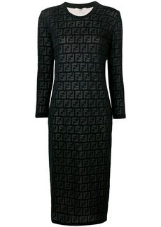 Fendi inlaid FF motif dress
