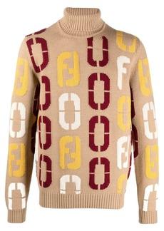 Fendi intarsia-knit logo jumper