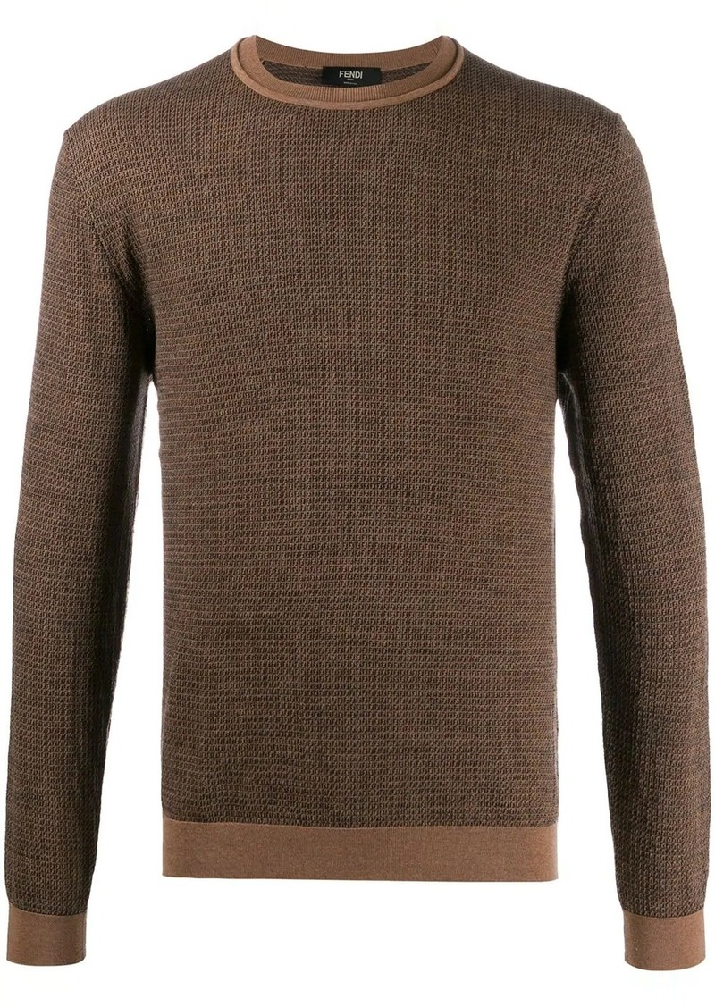 Fendi intarsia knitted FF motif sweater