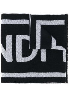 Fendi intarsia logo scarf