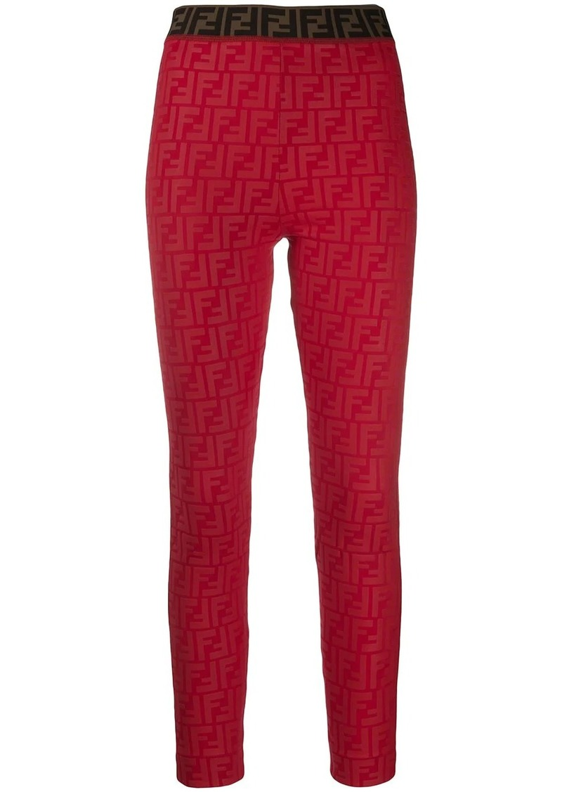 Fendi jacquard elasticated leggings