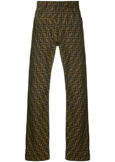 Fendi jacquard FF logo trousers