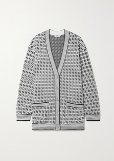 Fendi Jacquard-knit Cardigan