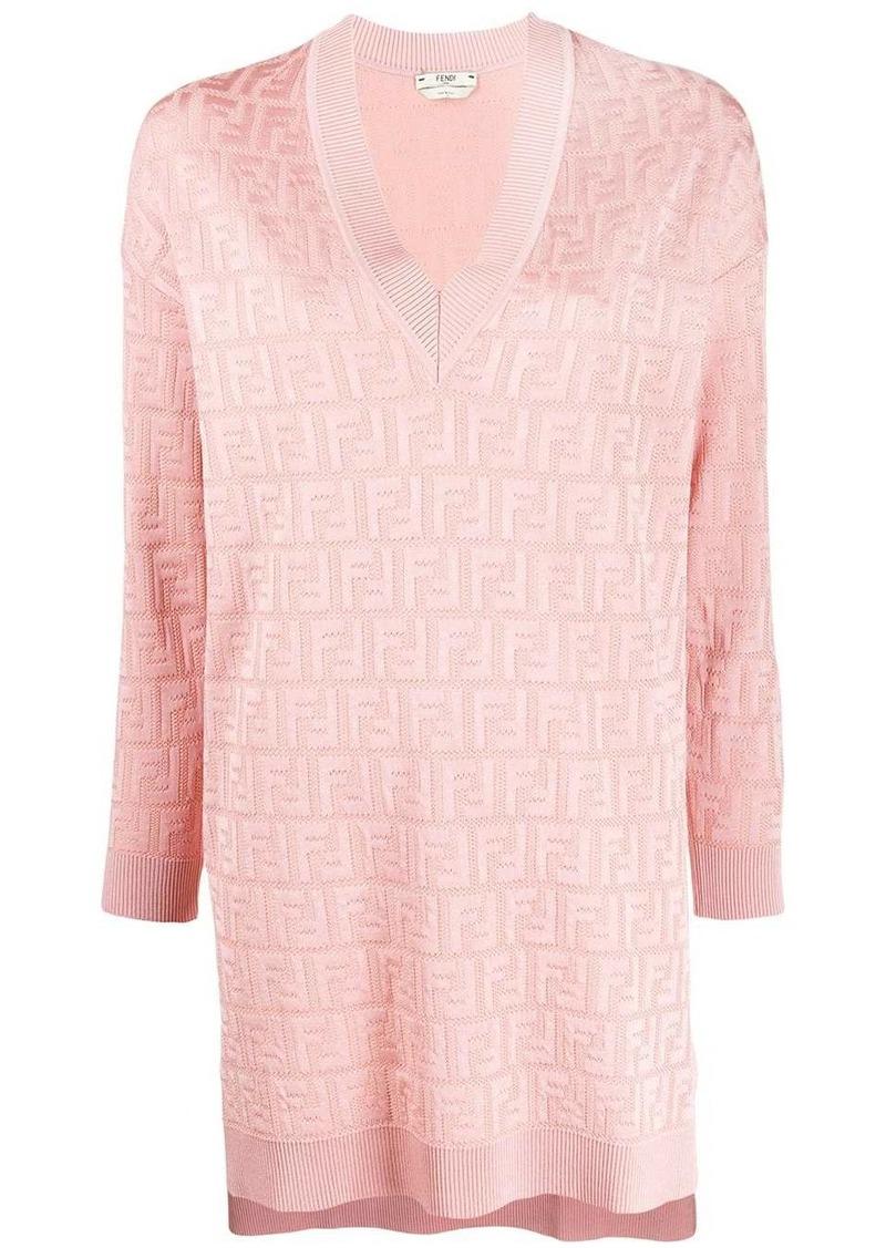 Fendi jacquard-knit FF dress
