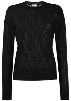 Fendi jacquard knit FF logo sweater