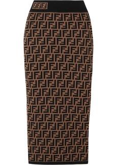 Fendi Jacquard-knit Midi Skirt