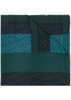 Fendi jacquard logo print scarf