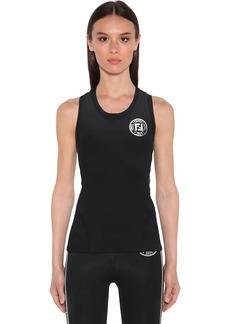 Fendi Jersey Tank Top W/logo Side Bands