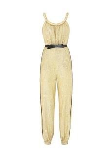 Fendi Gold Lurex jumpsuit