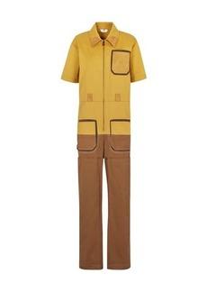 Fendi Multicolour gabardine jumpsuit