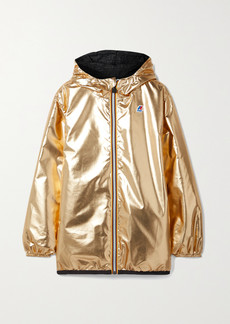 Fendi K-way Reversible Hooded Appliqued Printed Shell Jacket