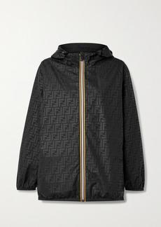 Fendi K-way Reversible Hooded Printed Shell And Ripstop Jacket