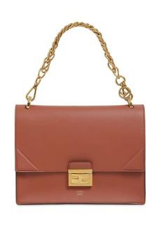 Fendi Kan B Medium Leather Shoulder Bag