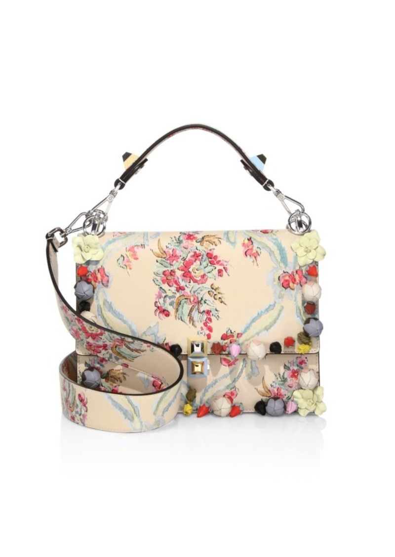 29d1a75dd8 Fendi Kan I Floral-Embroidered Leather Shoulder Bag | Handbags