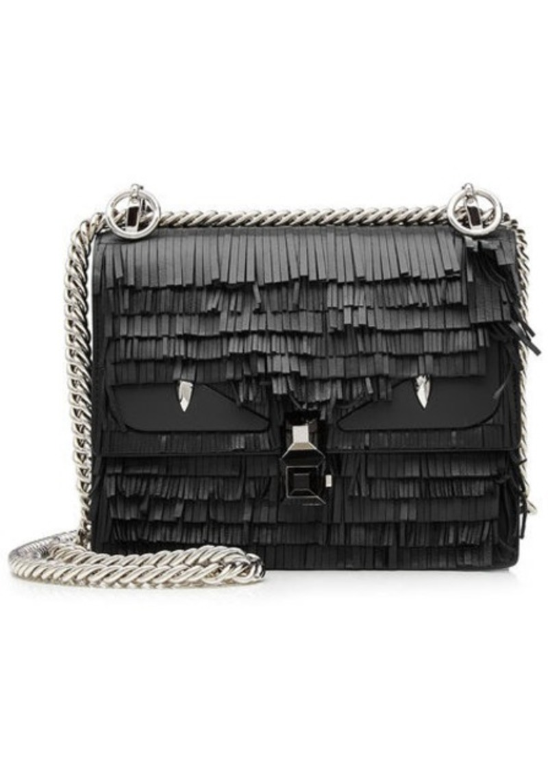 Fendi Kan I Fringed Leather Shoulder Bag