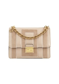 Fendi Kan U Embossed Leather Shoulder Bag