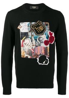 Fendi Karl Kollage logo sweater