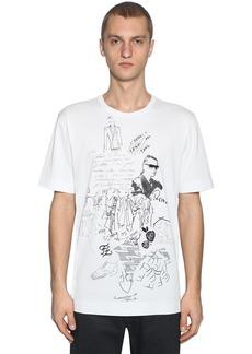 Fendi Karl Printed Cotton Jersey T-shirt