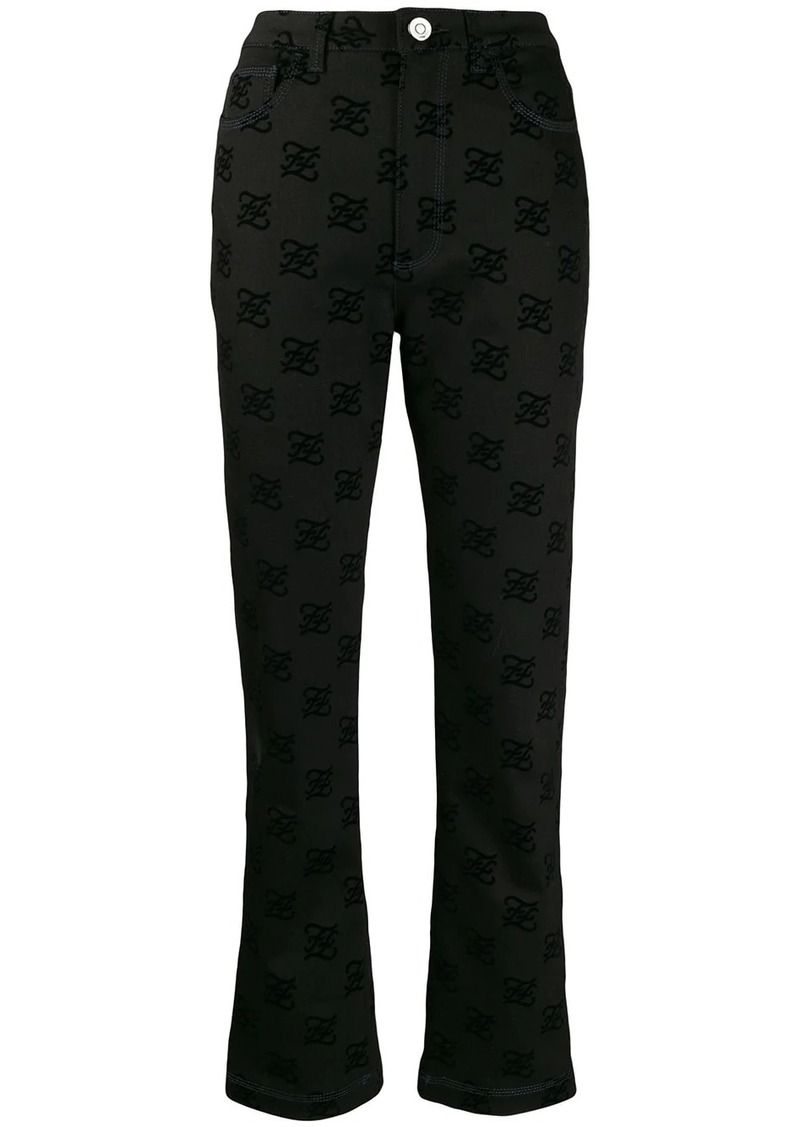 Fendi Karligraphy bootcut jeans