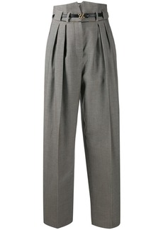 Fendi Karligraphy buckle trousers