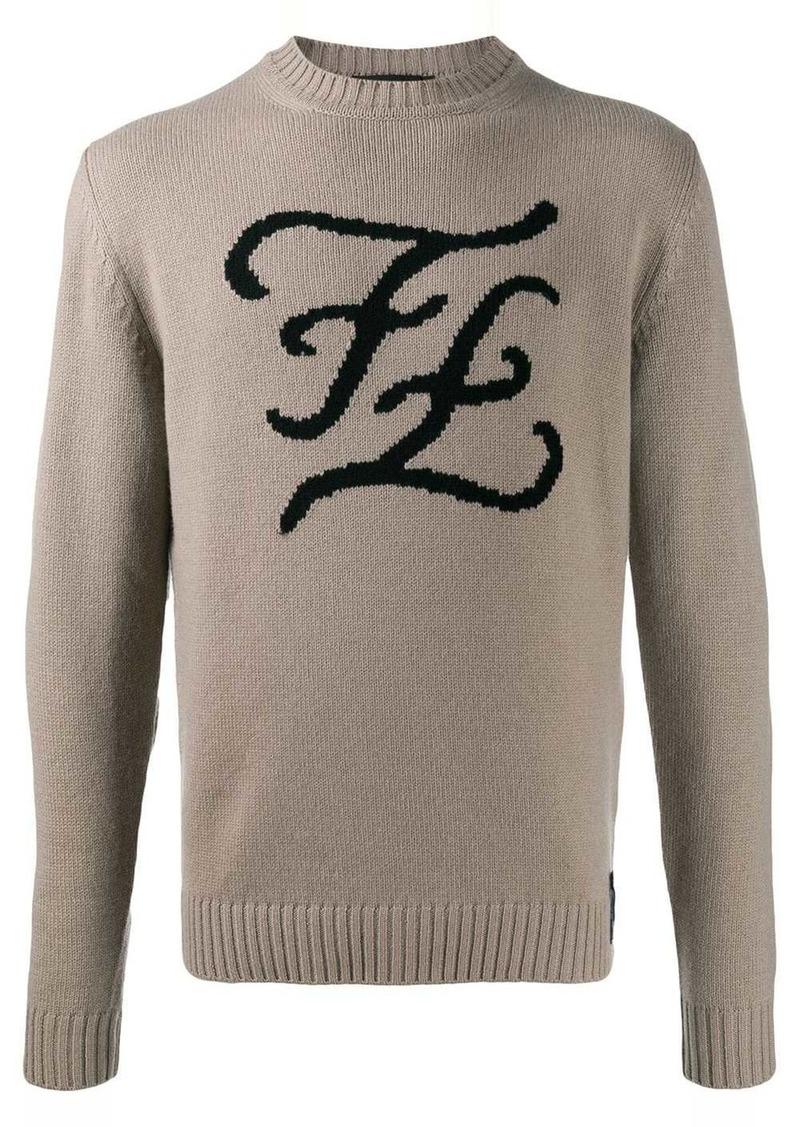 Fendi Karligraphy knitted jumper