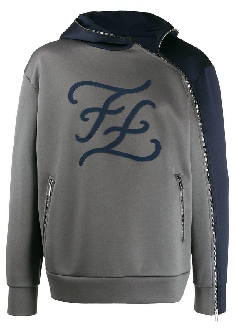 Fendi karligraphy logo hoodie