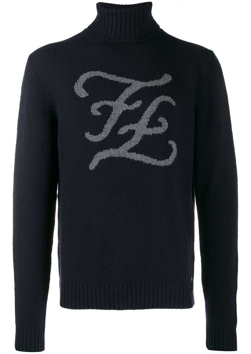 Fendi karligraphy logo jumper