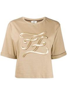 Fendi karligraphy logo t-shirt