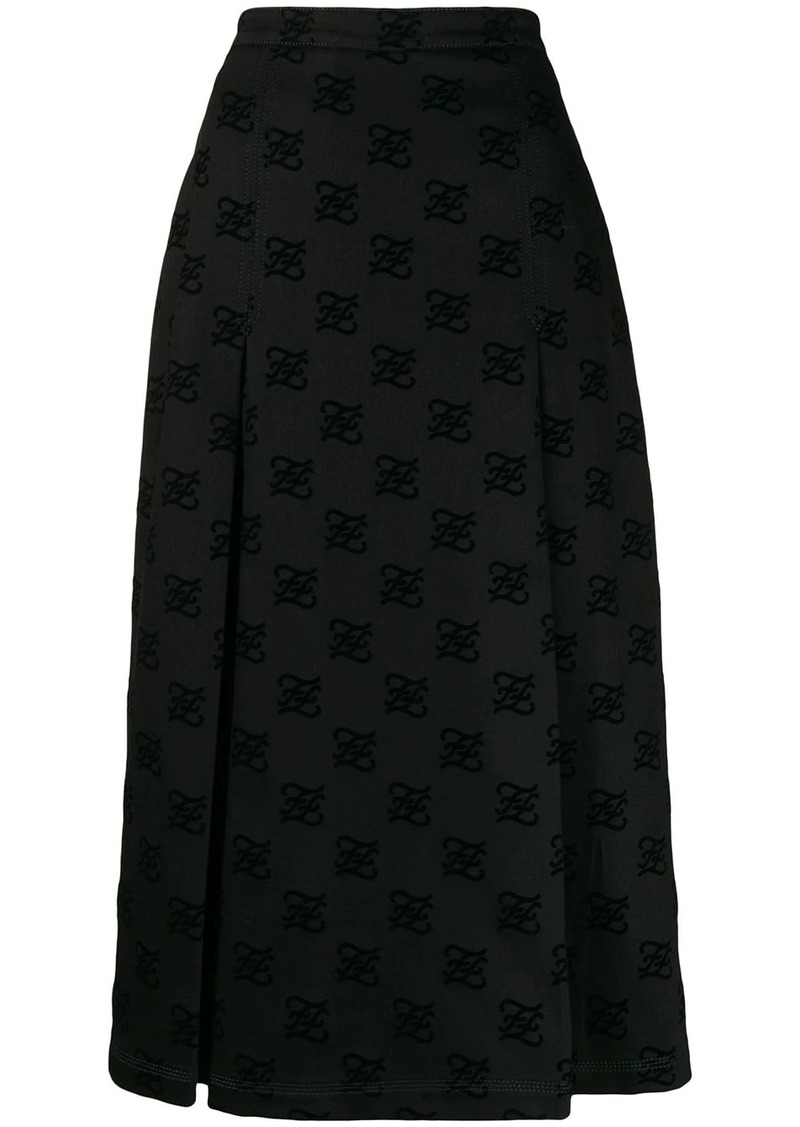 Fendi Karligraphy midi skirt