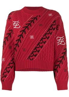 Fendi Karligraphy motif jumper
