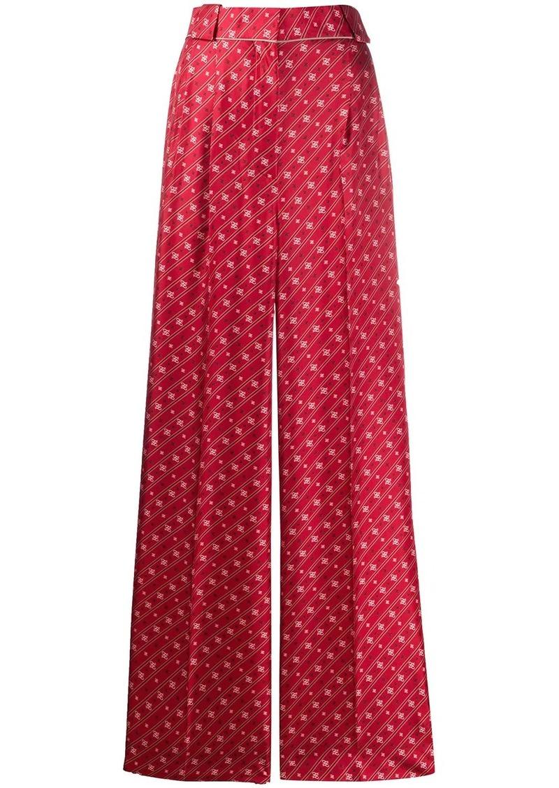 Fendi Karligraphy motif wide-leg trousers