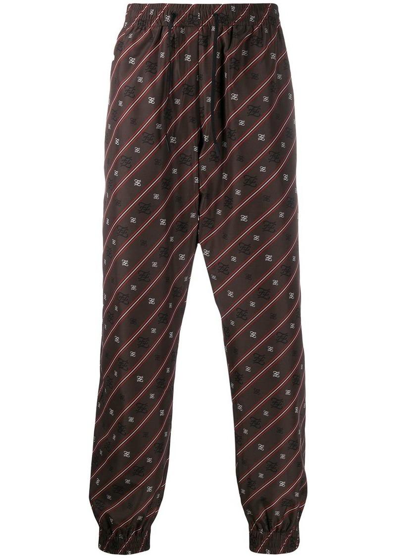 Fendi Karligraphy striped track pants