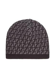 Fendi knit FF logo beanie