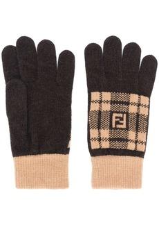 Fendi knitted gloves