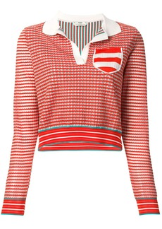 Fendi knitted polo top