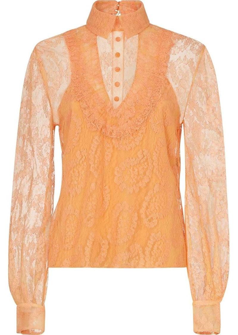 Fendi lace layered blouse