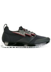 Fendi lace-up with lightning bolt sneakers